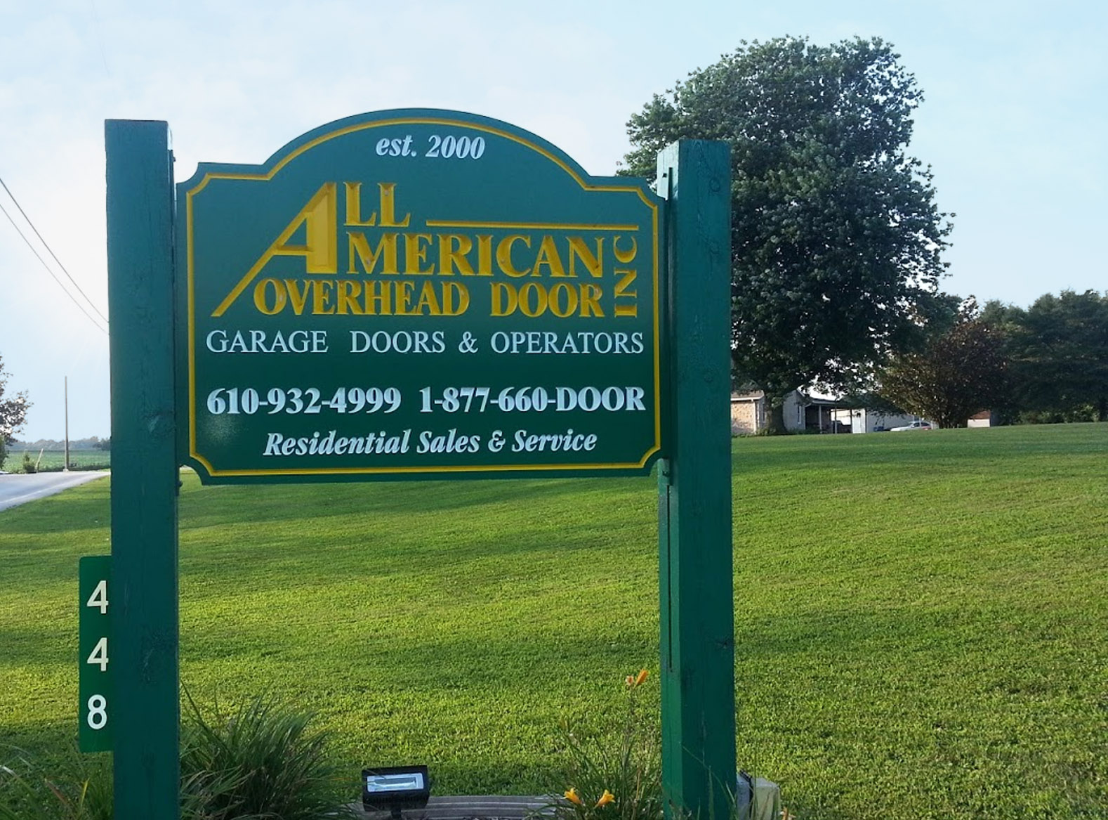 All American Overhead Door Street Sign